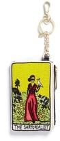 Alice + Olivia 'The Sartorialist' beaded coin purse key charm