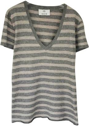 Allude Grey Cashmere Knitwear