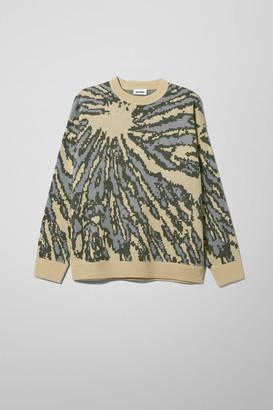 Weekday Diego Tie Dye Jacquard Sweater - Beige