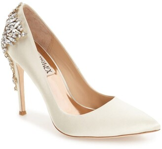 Badgley Mischka Gorgeous Crystal Embellished Pointed Toe Pump