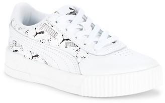 Puma Girl's Carina Hand-Drawn Leather Sneakers