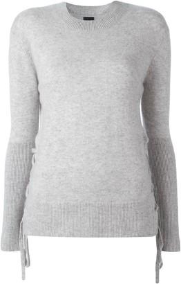 RtA fine knit lace-up jumper