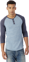 Alternative Basic Eco-Jersey Raglan Henley Shirt
