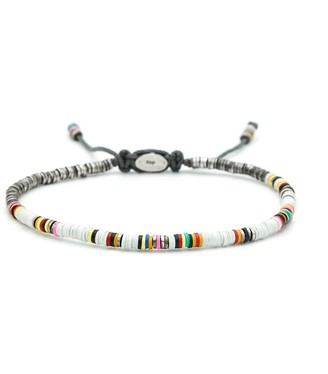 M. Cohen Mini African White Disc Bracelet