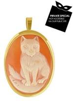 Cat Cornelian Cameo Pendant / Pin
