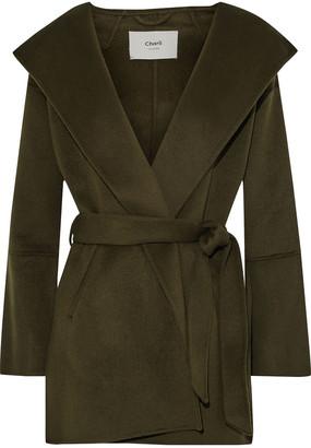 Charli Adine Belted Wool-felt Coat