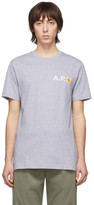 A.P.C. Grey Carhartt WIP Edition Fire T-Shirt