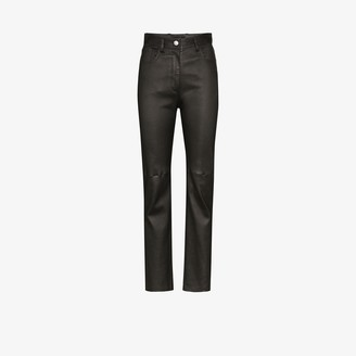 Joseph Cindy slim leather trousers