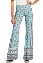 I.N. San Francisco Border-Printed Flare Leg Pants