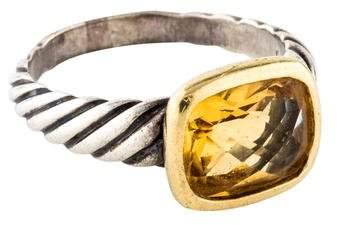 David Yurman Two-Tone Citrine Noblesse Ring