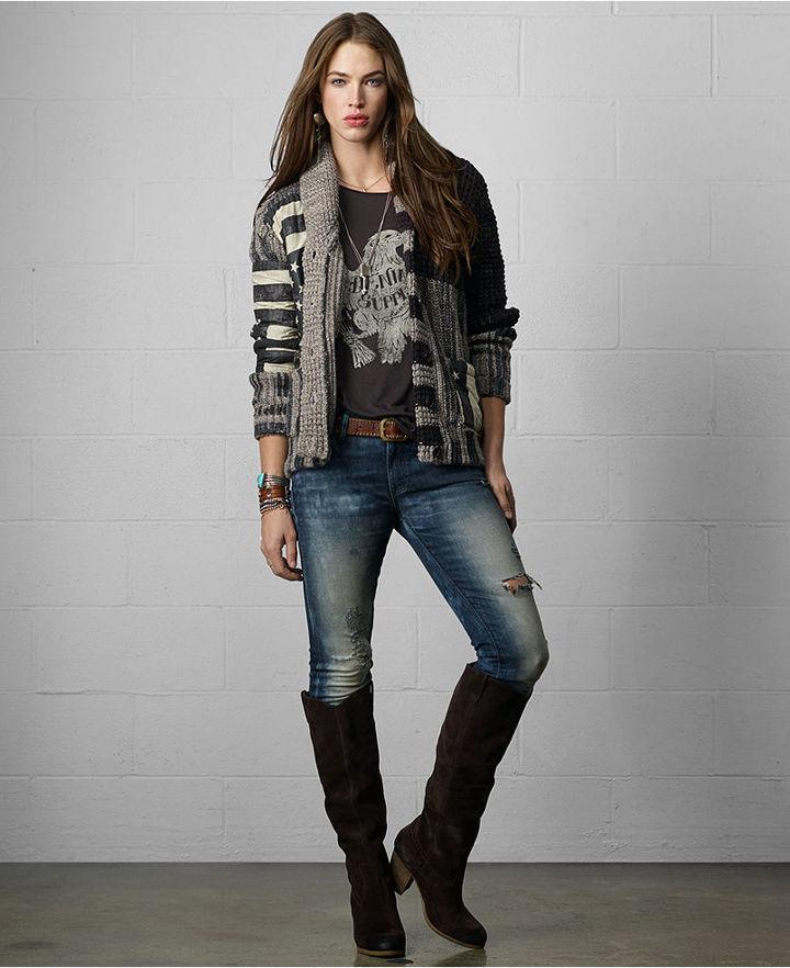 Denim & Supply Ralph Lauren Sweater, Long-Sleeve Shawl Collar