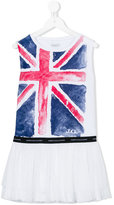 John Galliano Union Jack tulle dress - kids - Cotton/Polyester/Spandex/Elastane - 4 yrs