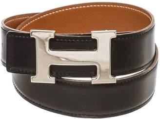 Hermes H Black Leather Belts