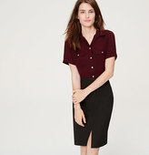 LOFT Short Sleeve Utility Blouse