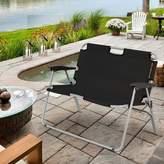 Oasis 3 Layer Floating Park Bench Costway Color: Black