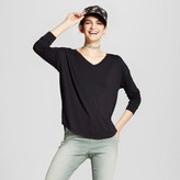 Mossimo Women's Softest Long Sleeve V-Neck T-Shirt