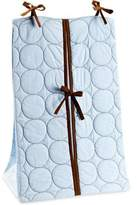 Bacati Quilted Circles Blue and Chocolate Diaper Stacker