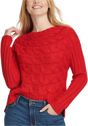DKNY Horizontal Cable-Knit Sweater