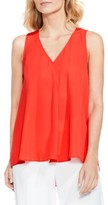 Vince Camuto Women's Drape Front V-Neck Sleeveless Blouse