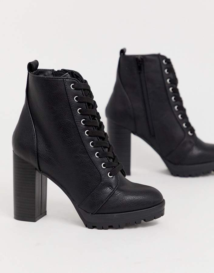 London Rebel Lace Up Platform Boots