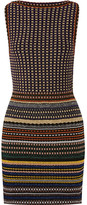 Missoni Striped Metallic Crochet-knit Mini Dress - Navy