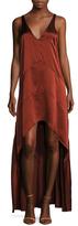 Narciso Rodriguez Silk Racerback High Low Dress