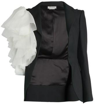Alexander McQueen Organza Ruffle Sleeve Jacket