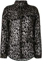The Kooples sheer animal print blouse