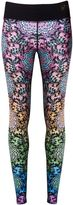 Matthew Williamson Butterfly Wheel Print Long Leggings