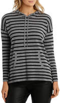 Jump Stripe Hooded Pullover