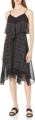 Nanette Lepore Women's Placement Print Hanky Hem Dress