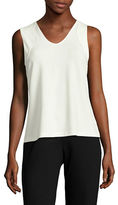 Kasper Suits Scallop Edge Jersey Tank