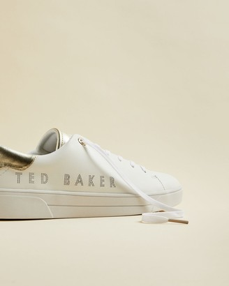 Ted Baker Leather Branded Trainers