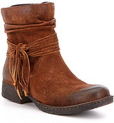 Børn Cross Fringed Western Booties