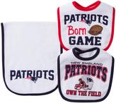 Gerber New England Patriots Three-Piece Bib Set