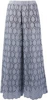 Erika Cavallini - embroidered wide-leg trousers - women - Cotton/Polyester - 40