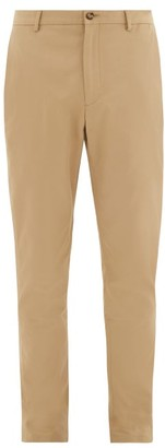 Burberry Shibden Icon-stripe Lined Cotton-twill Chinos - Mens - Beige