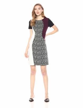 Taylor Dresses Women's Mixed Print Shift Dress