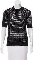 Derek Lam Short Sleeve Crew Neck Sweater