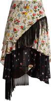 Preen Line Rochelle floral-print crepe de Chine skirt