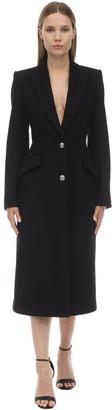 Alexander McQueen Compact Wool & Cashmere Felt Coat