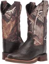 Old West Kids Boots Broad Square Toe Cowboy Boots