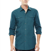 Jf J.Ferrar JF Long-Sleeve Triple-Needle Woven Shirt