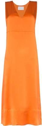 Asceno silk midi slip dress
