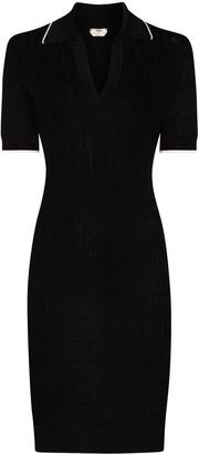 Fendi FF polo collar mini dress
