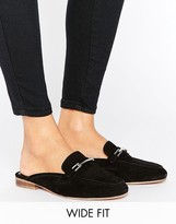 Asos MOTIVATE Wide Fit Suede Mules