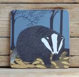 Bird Nocturnal Coasters Choice Of Badger, Hedgehog And Hare