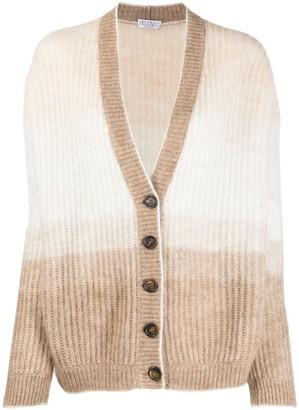 Brunello Cucinelli Ombre Knit Cardigan