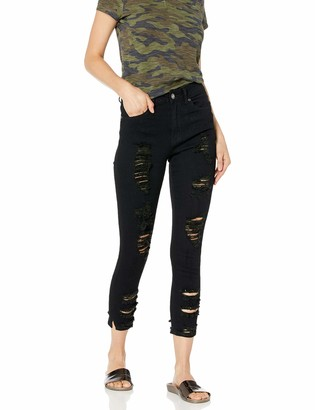 Cover Girl Women's Size High Waisted Cute Ripped Fray Fit Skinny Juniors