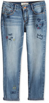 Jessica Simpson Embroidered Skinny Jeans, Big Girls (7-16)